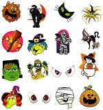 A Large Pack of Halloween Tattoos Pack of 60