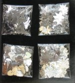 Silver Christmas confetti selection