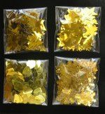 Gold Christmas confetti selection