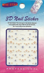 3D Nailart Stickers Purple Flowers