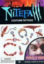 Nightfall costume tattoos - pierce & stab