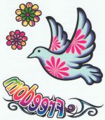 Peace tattoo sheet