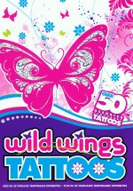 Wild Wings - Butterfly and Flower tattoo gift pack