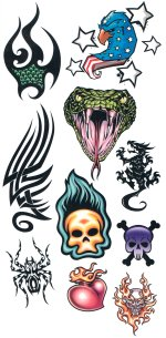 Biker Tattoos 3 - HUGE tattoo sheet