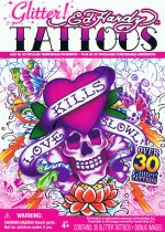 Ed Hardy Tattoo Gift Pack - 'Love Kills Slowly' Glitter Tattoo Collection