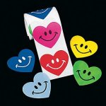 Smile Heart Stickers - 50 Stickers