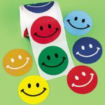 Colourful smiley face kids stickers: 50 stickers