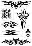 Tribal design stencil sheet