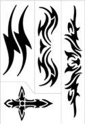 Tribal 2 design stencil sheet