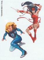 Marvel Superheroes Invisible Woman & Elektra