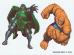 Marvel Superheroes Doctor Doom & Thing