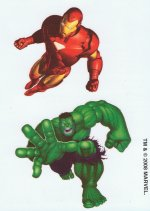 Marvel Superheroes Ironman & Hulk