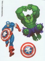 Marvel Superheroes Captain America & Hulk