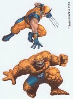 Marvel Superheroes Wolverine and Thing