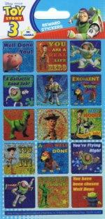 Toy Story: reward stickers