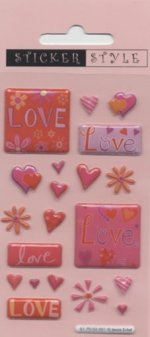 Craft Stickers: Love and Hearts