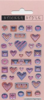 Craft Stickers - Arty Hearts