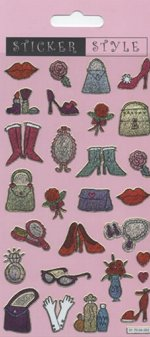 Glitter Glamour Girl Stickers: 1 sheet