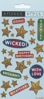 Wicked, Cool Stars Glitter Stickers