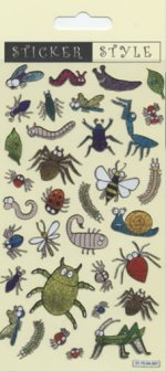 Insects and Bugs Glitter Stickers