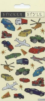 Cars and Planes Glitter Stickers