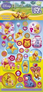 Disney Winnie the Pooh stickers: 6 sheet Party Pack