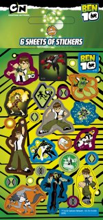 Ben 10 stickers: 6 sheet Party Pack