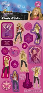 Disney Hannah Montana sticker sheets: 6 sheet party pack