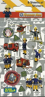 Fireman Sam stickers: 6 sheet Party Pack