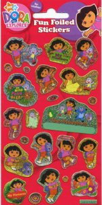 Dora the Explorer Fun Foiled Stickers
