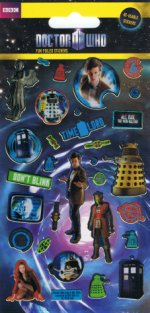 Dr Who Holofoil Stickers
