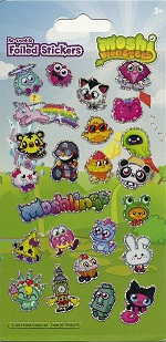 Moshi Monsters Holofoil Stickers