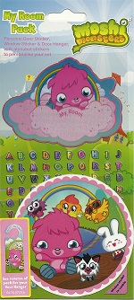 Moshi Monsters: Bedroom Door Hanger and Sticker pack