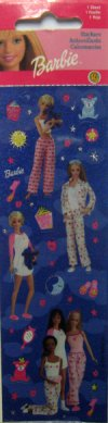 Sleepover Barbie Stickers: 1 sheet