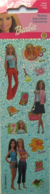 Barbie Flower Stickers  1 sheet