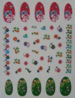 Glitter Nail Art Stickers:  Daisy Designs