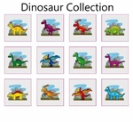 Cartoon dinosaur tattoos: 12 pack