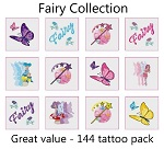 A Fairy Tattoos Collection mega pack of 144