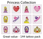A Princess Tattoos Collection mega pack of 144