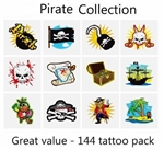 A Pirate Tattoos Collection - mega pack of 144