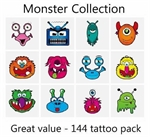 A Monster Tattoos Collection - mega pack of 144