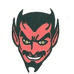 Red Devil temporary tattoo