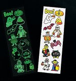 Glow in the dark Halloween tattoos:  1 sheet