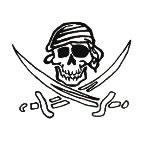 Skull and Swords tattoos - 6 pack