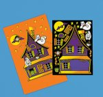 Make a Haunted House sticker sheet: 12 pack