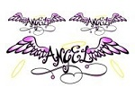 Glitter 'Angel Wings' tattoos