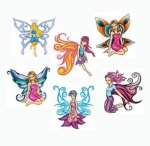 Kids Fairies collection of temporary tattoos: 6 pack