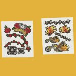 Gothic Biker Tattoos - 2 Sheets
