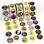 Halloween Fun Selection of Stickers: pack of 100