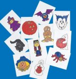 Glow in the dark Halloween tattoos: 12 pack